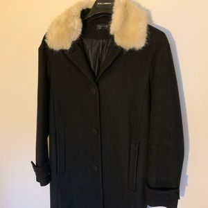 Topshop Black Wool Coat